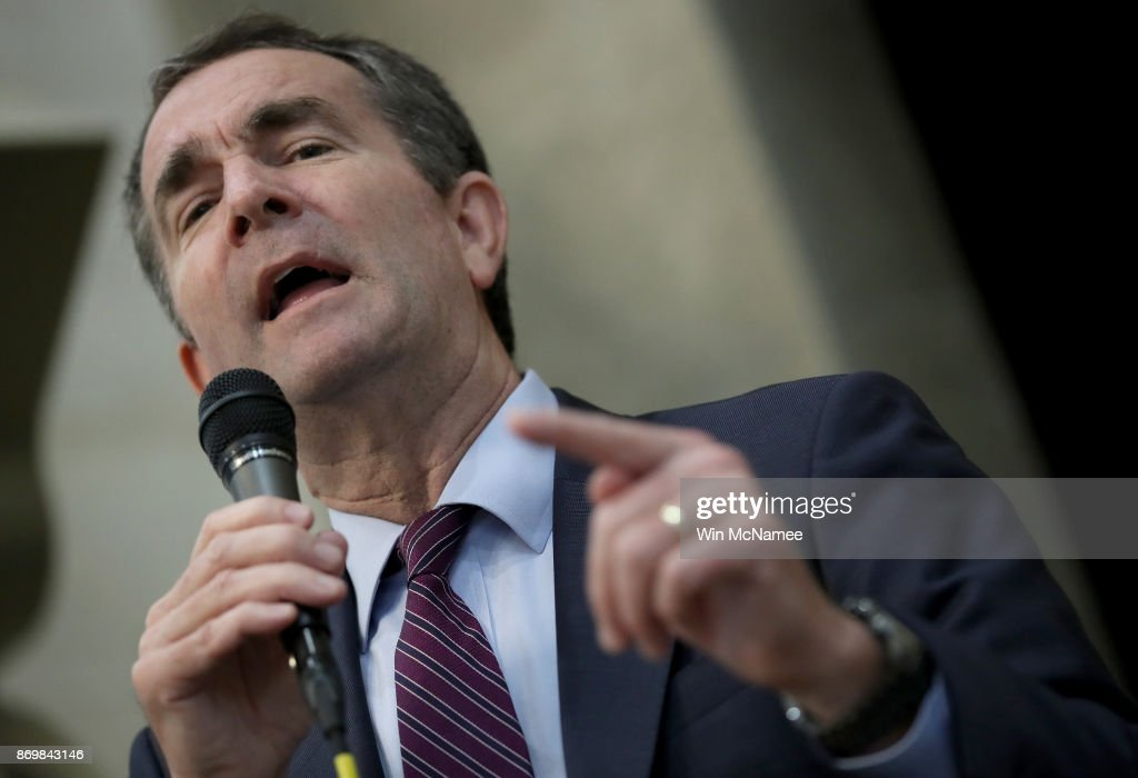 Democratic Gov. Candidate Ralph Northam Attends Friday Prayers At VA Mosque : News Photo