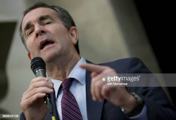 Virginia Democratic candidate for governor Lt Gov Ralph Northam campaigns at the All Dulles Area Muslim Society following Friday prayers November 3...