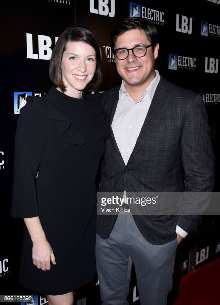 Virginia Donohoe and Rich Sommer attend the Los Angeles Premiere of LBJ at ArcLight Hollywood on October 24 2017 in Hollywood California