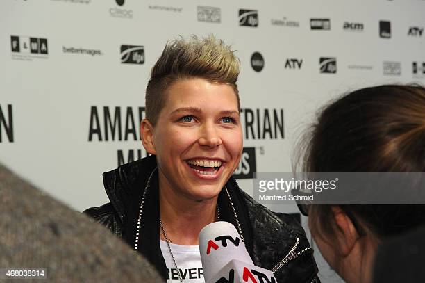 Virginia Ernst poses for a photograph during the Amadeus Austrian Music Awards 2015 at Volkstheater on March 29 2015 in Vienna Austria