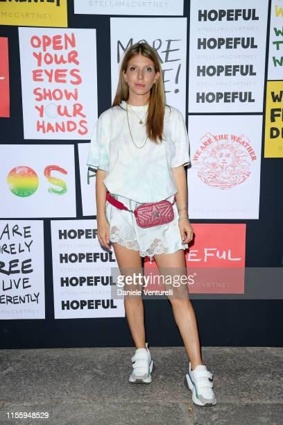 Virginia Galateri di Genola attends the presentation of Stella McCartney during the Milan Men's Fashion Week Spring/Summer 2020 on June 14 2019 in...