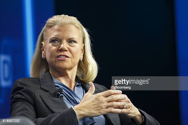 Virginia 'Ginni' Rometty chief executive officer of International Business Machines Corp speaks during the WSJDLive Global Technology Conference in...