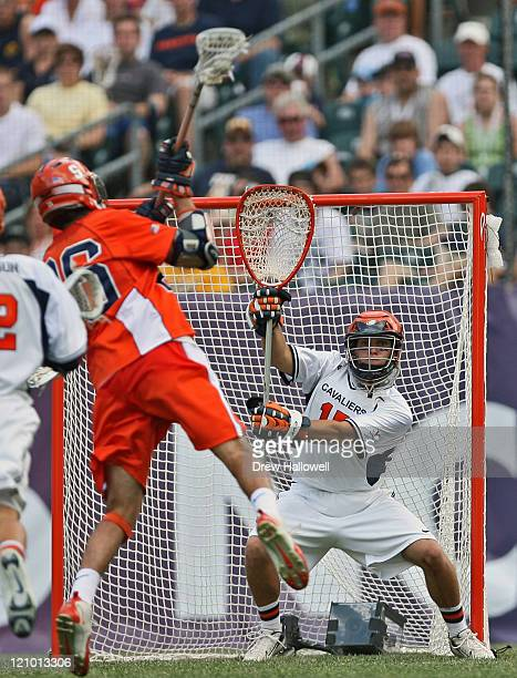 Virginia goalie Kip Turner looks to make a save in the Division I Lacrosse Semi-Finals Saturday, May 27, 2006 at Lincoln Financial Field in...