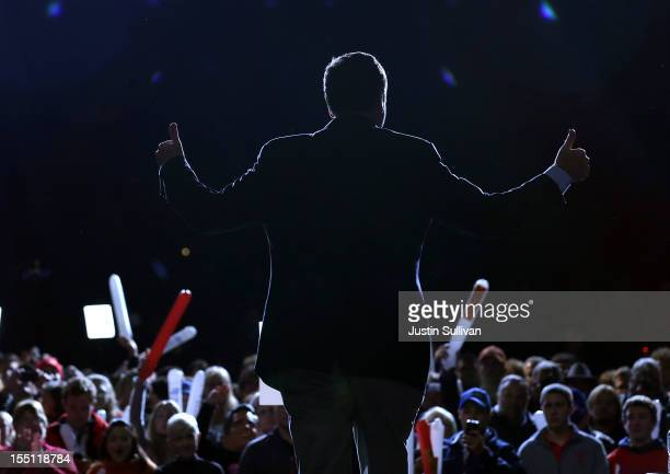 Virginia Gov Bob McDonnell greets the crowd during a campaign rally for Republican presidential candidate former Massachusetts Gov Mitt Romney at...