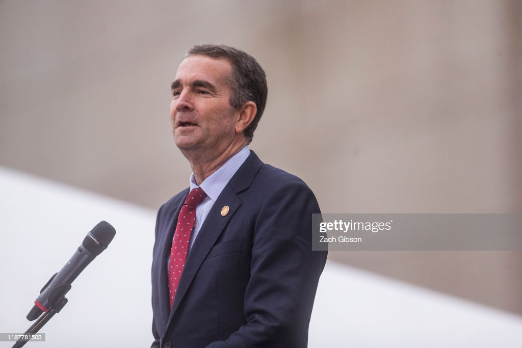 Governor Northam Speaks At Unveiling Of Kehinde Wiley Statue At Virginia Museum Of Fine Arts : News Photo