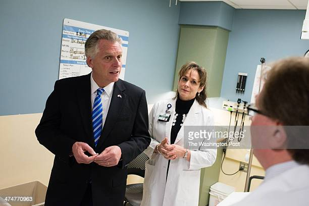 Virginia Governor Terry McAuliffe visited Inova Loudoun Hospital in Leesburg VA on Monday February 2014 to try to rally support for his signature...