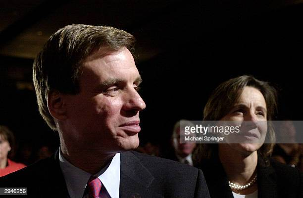 Virginia Goveronor Mark Warner and his wife Lisa Collis attend the Virginia Democratic Party's annual JeffersonJackson Day Dinner February 7 2004 in...