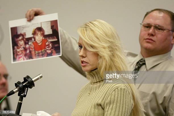 Virginia Graham sister of Green River Killer victim Debra Estes speaks in court during the sentencing of Gary Ridgway December18 2003 in Seattle...