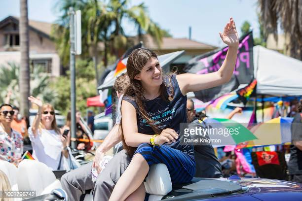 Virginia House Delegate Danica Roem served as Grand Marshall of the San Diego Pride Parade at Balboa Park on July 14 2018 in San Diego California