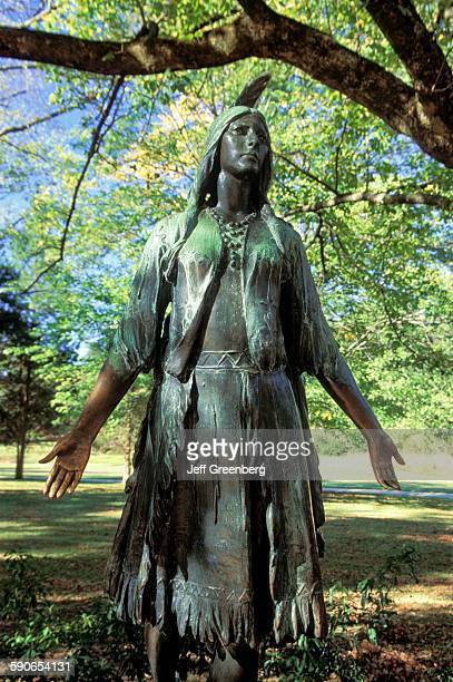 Virginia Jamestown National Historic Site Statue Of Pocahontas