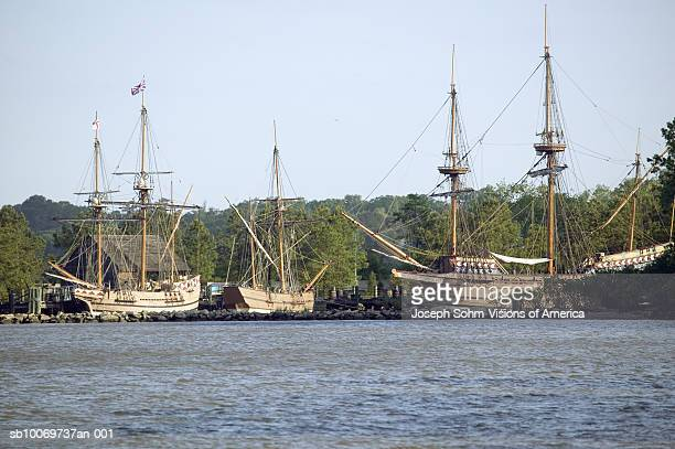 USA, Virginia, Jamestown, replicas of The Susan Constant, Godspeed and Discovery ships