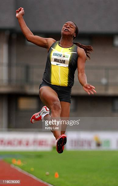 Virginia Johnson aka Gigi Miller was fifth in the women's long jump at 206 1/2 in the Road To Eugene '08 track field meet at the University of...
