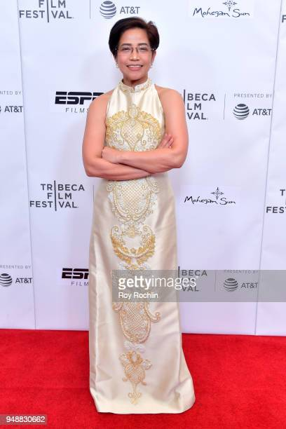 Virginia Lacsa Suarez attends the premiere of 'Call Her Ganda' during the 2018 Tribeca Film Festival at Cinepolis Chelsea on April 19 2018 in New...