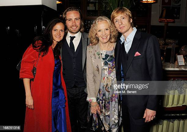 Virginia Lawson Ace Lawson Hayley Mills and Crispian Mills attends an after party following the press night performance of 'Passion Play' at The...