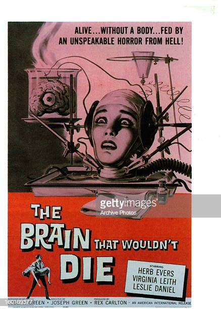 Virginia Leith in movie art for the film 'The Brain That Wouldn't Die' 1962