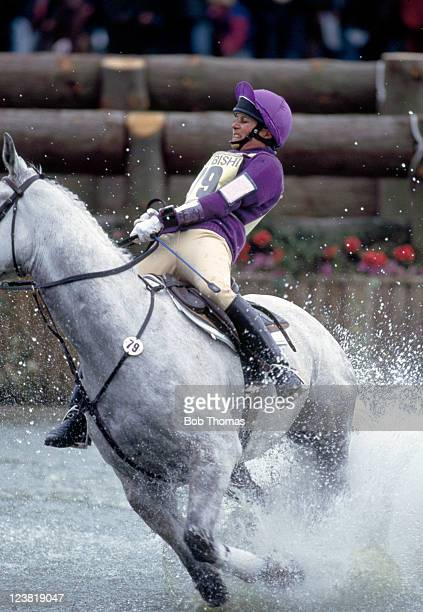 Virginia Leng of Great Britain riding her horse Welton Houdini en route to winning the Badminton Horse Trials circa May 1993