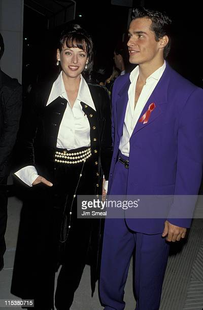 Virginia Madsen and Antonio Sabato Jr during Chanel Unveils Its New Rodeo Drive Boutique And Salutes The American Film Institute at Chanel Boutique...