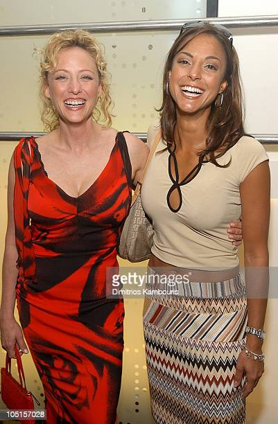 Virginia Madsen and Eva La Rue during HSUS Seal Party Meatpacking District Kickoff at DVF Store in New York City New York United States