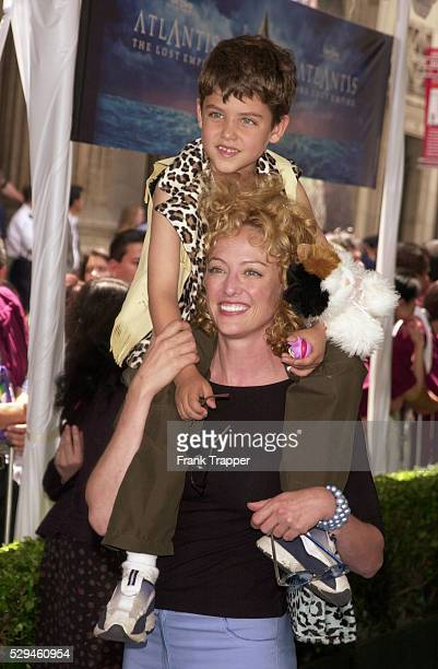 Virginia Madsen and her son Jack at the premiere of 'Atlantis The Lost Empire'