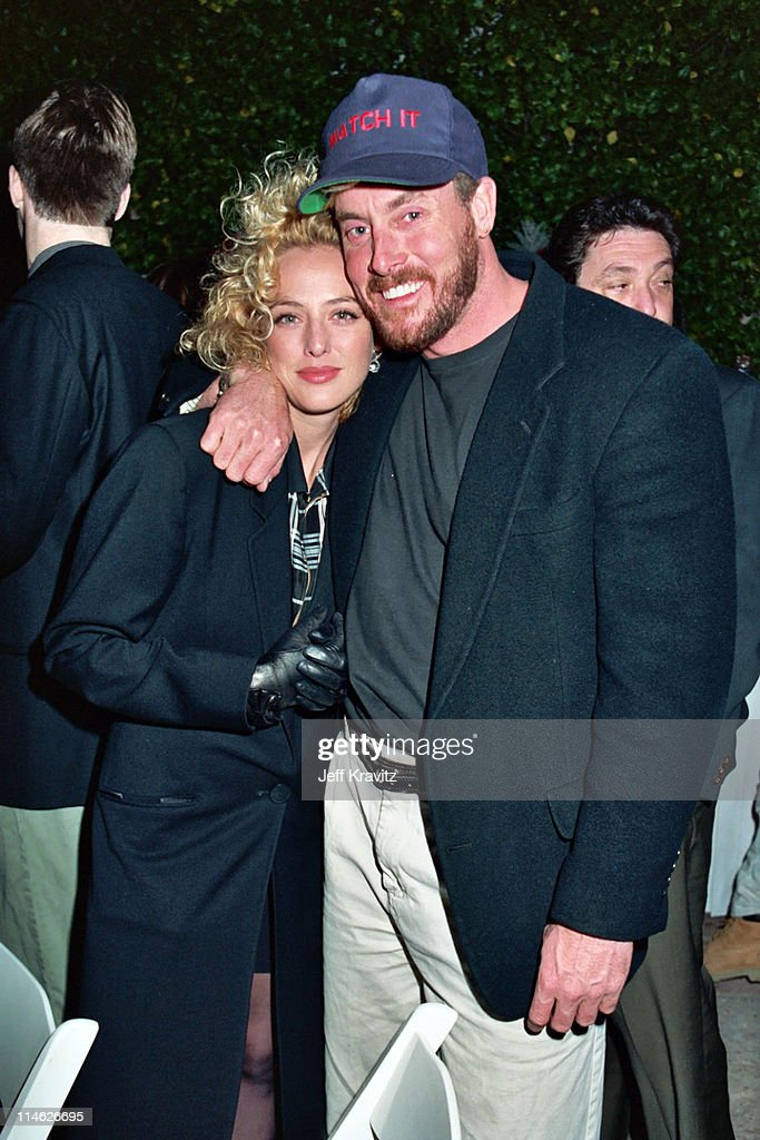 Virginia Madsen and John McGinley during Poolside Cocktail Party for Kelly Klein's Book, 'Pools' at Beverly Hills Hotel in Beverly Hills, CA, United States.