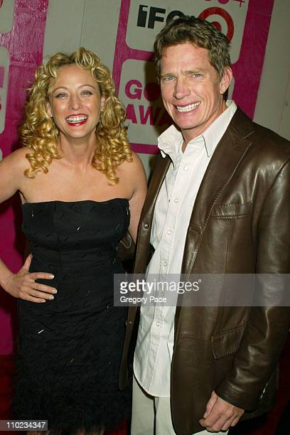 Virginia Madsen and Thomas Haden Church during The 14th Annual Gotham Awards Gala Arrivals at Pier 60 in New York City New York United States