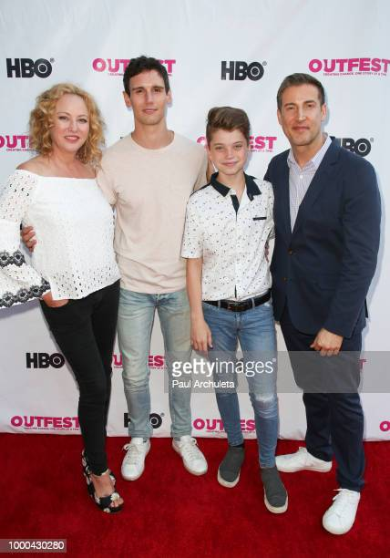 Virginia Madsen Cory Michael Smith Aidan Langford and Christopher Racster attends the Premiere of '1985' at the 2018 Outfest Los Angeles LGBT Film...