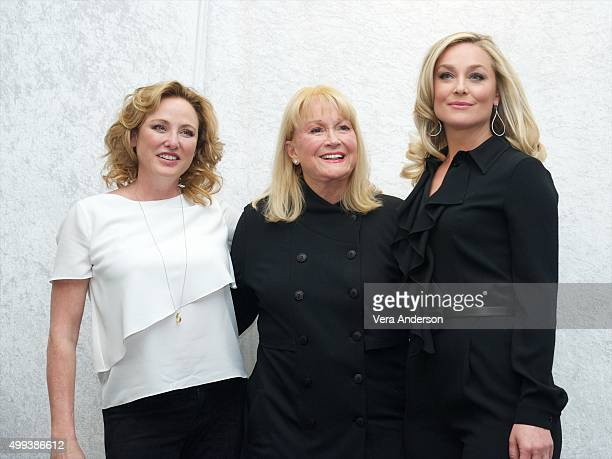 Virginia Madsen Diane Ladd and Elisabeth Rohm at the Joy Press Conference at the InterContinental Hotel on November 29 2015 in Century City California