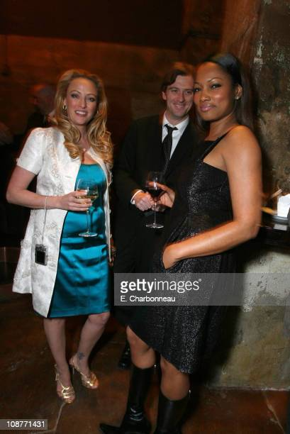 Virginia Madsen Mike Nilon and Garcelle Beauvais during New Line Cinema Presents the Premiere of The Number 23 at Orpheum in Los Angeles California...