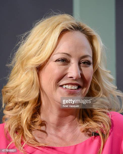 Virginia Madsen visits 'Extra' at Universal Studios Hollywood on March 10 2014 in Universal City California