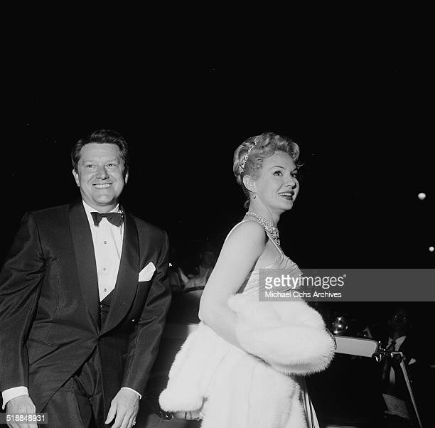 Virginia Mayo and husband Michael O'Shea attend the movie premiere of King Richard in Los AngelesCA