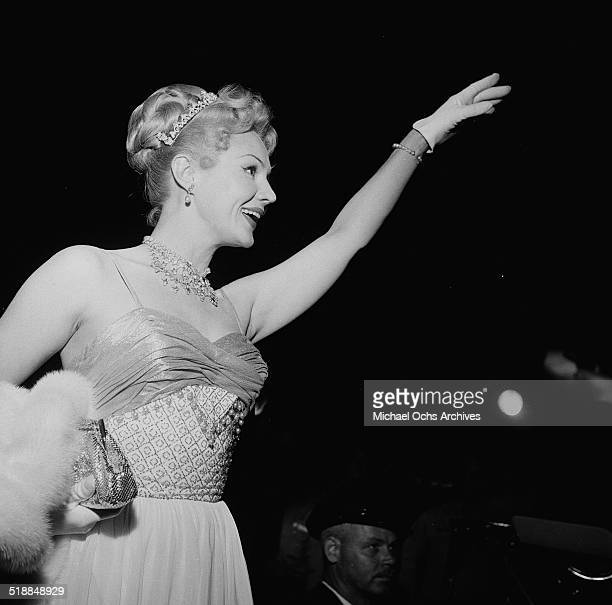 Virginia Mayo attends the movie premiere of King Richard in Los AngelesCA