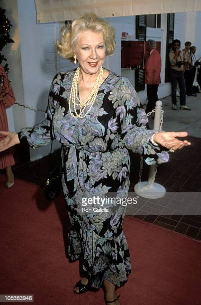 Virginia Mayo during The Hollywood Reporter's 60th Anniversary Celebration at Chasen's in Beverly Hills California United States
