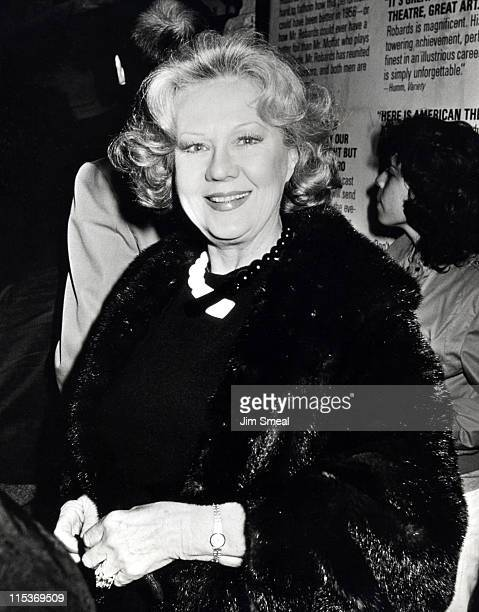 Virginia Mayo during The Iceman Cometh Los Angeles Opening Night at James Doolittle Theater in Los Angeles California United States