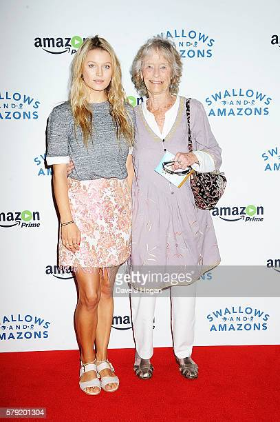 Virginia McKenna and granddaughter Lily Travers attend the gala screening for 'Swallows and Amazons' at Picturehouse Central on July 23 2016 in...