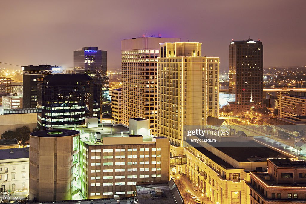 USA, Virginia, Norfolk, Cityscape at evening : Stock Photo