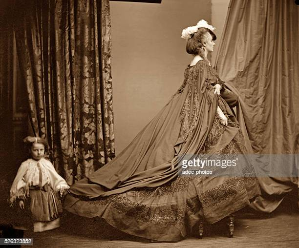 Virginia Oldoini Countess of Castiglione better known as La Castiglione Italian aristocrat who achieved notoriety as a mistress of Emperor Napoleon...