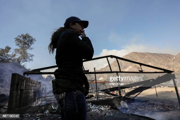 Virginia Padilla surveys her Padilla Ranch on Little Tujunga Road where 29 horses perished in Creek Fire yesterday on December 6 2017 in Sylmar...