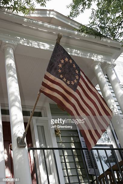 Virginia Portsmouth Court Street Olde Towne Historic District Betsy Ross Flag with 13 Stars