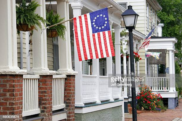 Virginia Portsmouth Glasgow Street Betsy Ross Flag