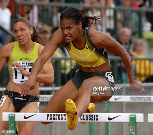 Virginia Powell aka Ginnie Powell was second in the women's 100meter hurdles in 1258 in the Prefontaine Classic at the University of Oregon's Hayward...
