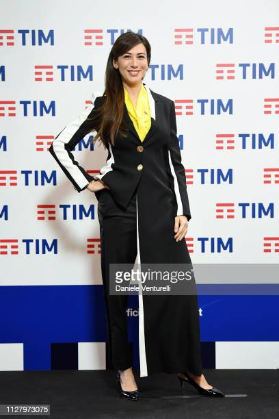 Virginia Raffaele attends a photocall on the third day of the 69. Sanremo Music Festival at Teatro Ariston on February 07, 2019 in Sanremo, Italy.