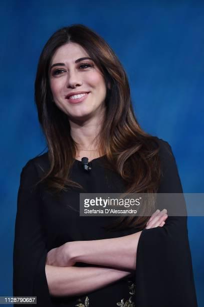 Virginia Raffaele attends Che Tempo Che Fa TV Show on February 10 2019 in Milan Italy