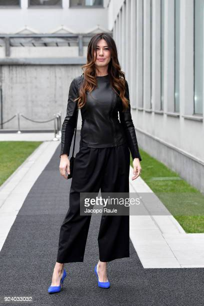 Virginia Raffaele attends the Emporio Armani show during Milan Fashion Week Fall/Winter 2018/19 on February 25 2018 in Milan Italy