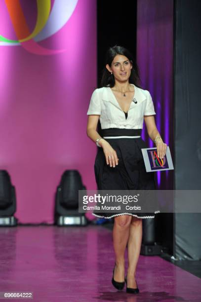 Virginia Raggi attends the Bellisario Awards In Rome on June 16 2017 in Rome Italy