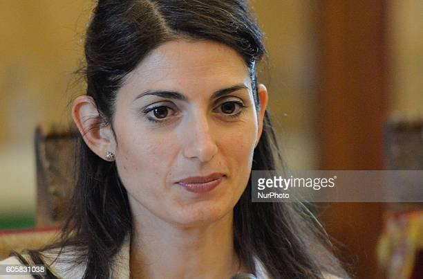 Virginia Raggi during presentation of European Mobility Week Rome on september 15 2016
