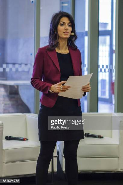 Virginia Raggi Mayor of Rome attends 'The Grand Tour of Italy' exhibition by Google Arts Culture preview in Rome Italy on December 01 2017 The Grand...