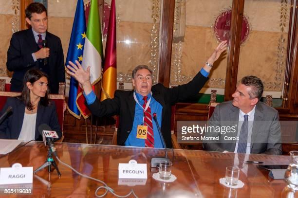 Virginia Raggi Mayor of Rome Paul Connet Emeritus Professor of Chemistry at Saint Lawrence University in New York Lorenzo Bagnacani President Ama SpA...