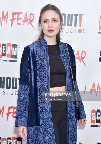 """Virginia Rand attends the Los Angeles Premiere of Roxwell Films """"I Am Fear"""" at Laemmle Monica Film Center on February 20 2020 in Santa Monica..."""