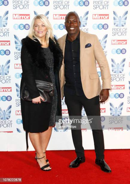 Virginia Shaw and Martin Offiah attend the Pride of Sport awards 2018 at Grosvenor House on December 06 2018 in London England
