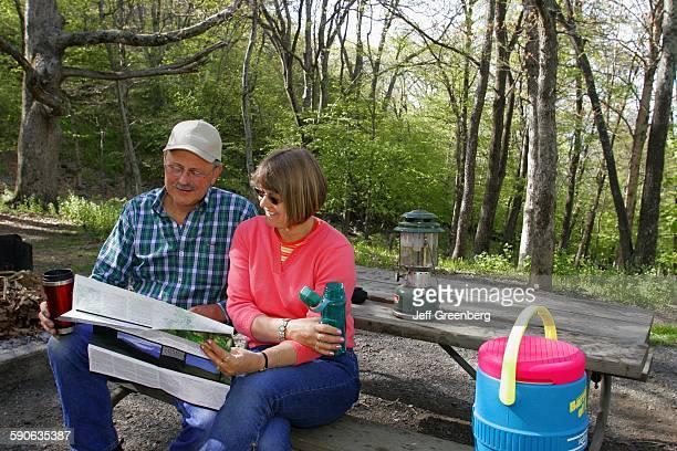 Virginia, Shenandoah National Park, Big Meadows Campground, Couple.